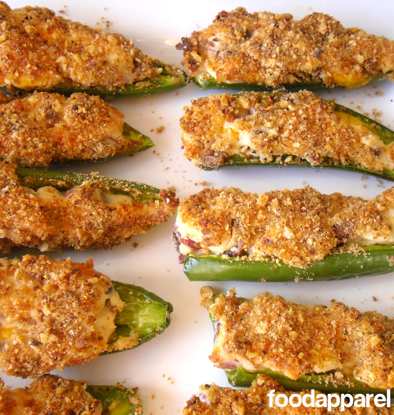Breaded Bacon Cheddar Jalapeno Poppers Recipe | Food Apparel