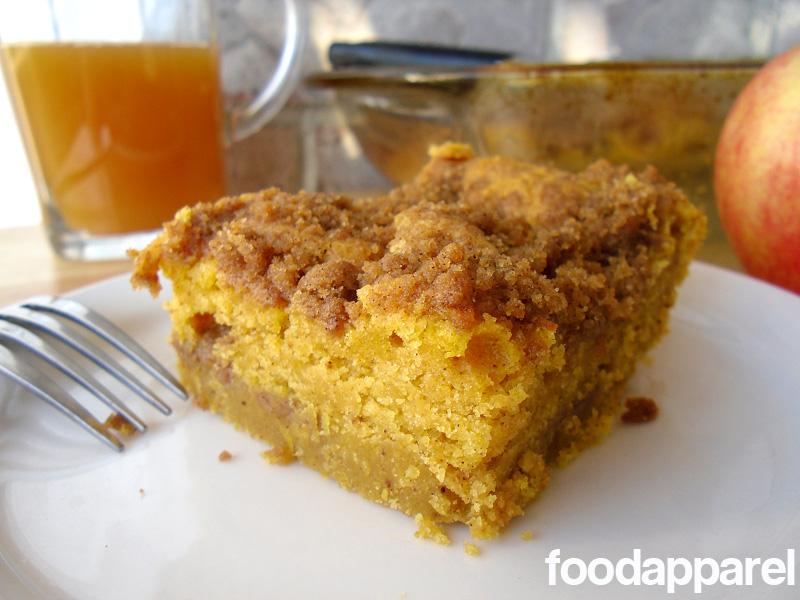 Pumpkin Cinnamon Streusel Coffee Cake Recipe | Food Apparel